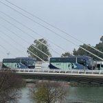 El transporte de Sevilla se manifiesta por el incumplimiento de los contratos públicos